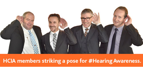 HCIA members striking a pose for #HearingAwareness