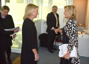 05 - Donna Staunton (CEO -  HCIA) greeting Senator the Hon Fiona Nash (Assistant Minister for Health)