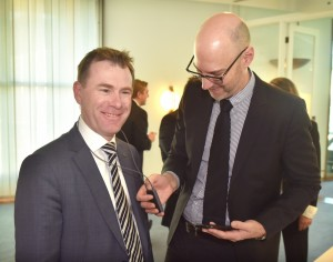 19 - Nick Champion MP (Shadow Parliamentary Secretary for Health) & Dr Ben Zalm Fernee (National Audiology Manager, Oticon - Australia)