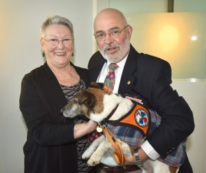 50 - Narelle Ryan, Peter Halsey (CEO - ACT Deafness Resource Centre) & Dog,